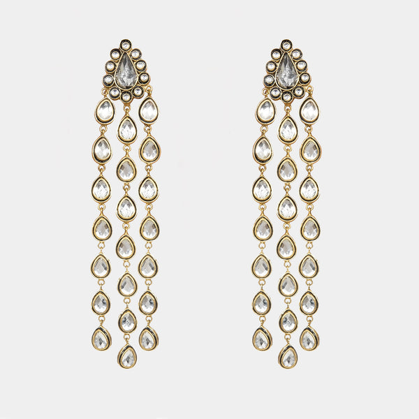 Serena Handmade Gold Plated Earrings - Opuline