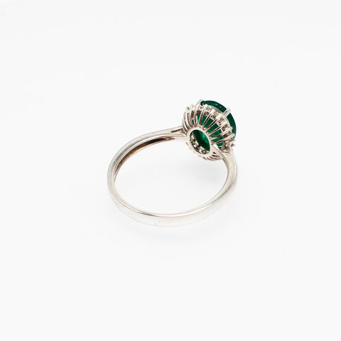 Iconic Emerald and diamond white gold ring - Opuline