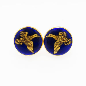 Gold Duck Cufflinks - Opuline