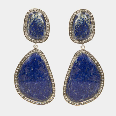 Lapis Earrings Large - Opuline