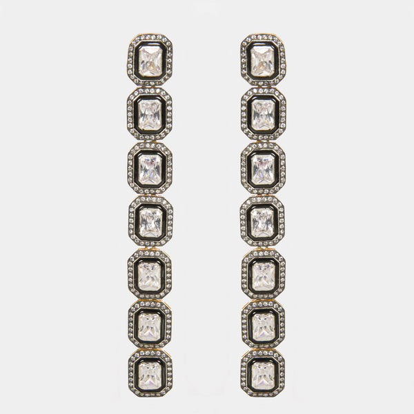 Sasha Zirconia Indian Handmade Earrings - Opuline