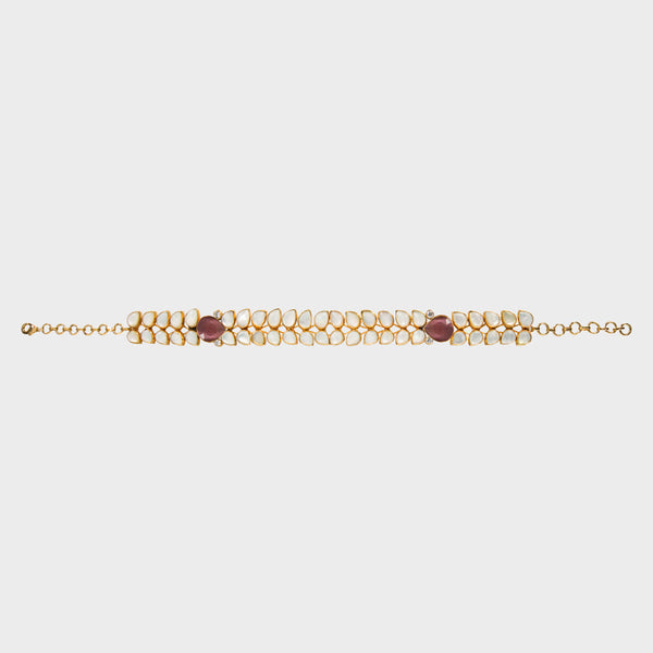 Cassie Choker Indian Handmade with Mother of Pearl  - Opuline