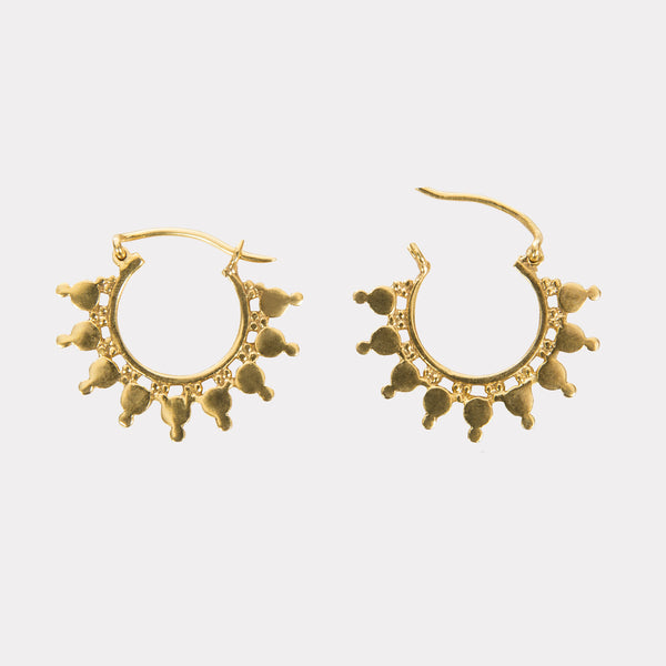 Sahara Indian Handmade Gold Plated Earrings - Opuline