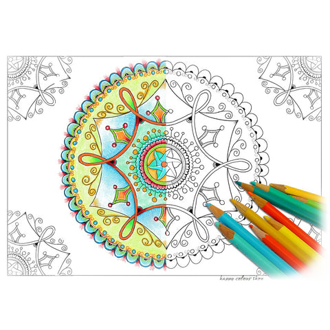 Instant download mandala coloring pages - digital printable files
