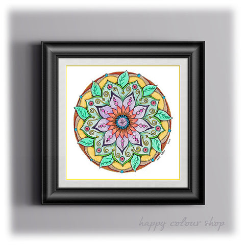 Original handdrawn mandala art