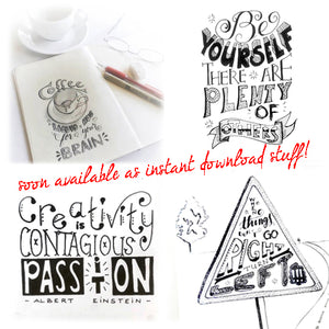 instant download handlettering - modern calligraphy - printable files