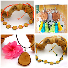 natural, wooden jewelry by HappyColourShop - Angie Barth