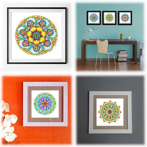 original mandala art drawing by HappyColourShop - Angie Barth