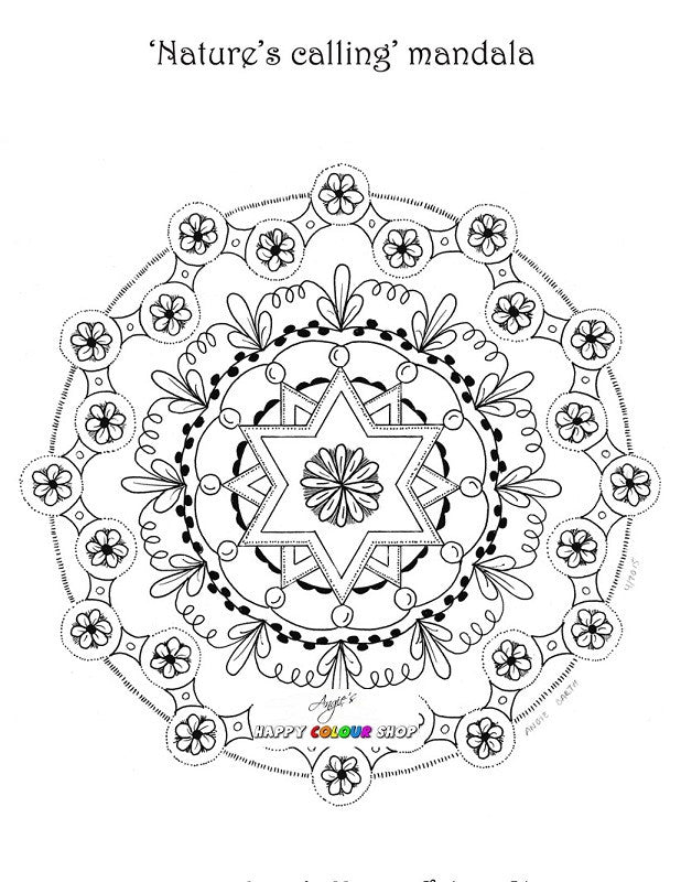 The little desert mandalas colouring book vol. 1, instant