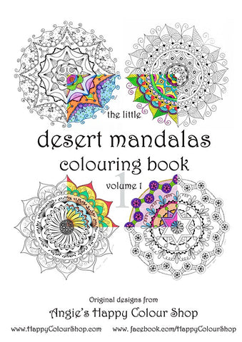 The little desert mandalas colouring book vol. 1, instant download