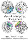 The little desert mandalas colouring book vol. 2, instant download