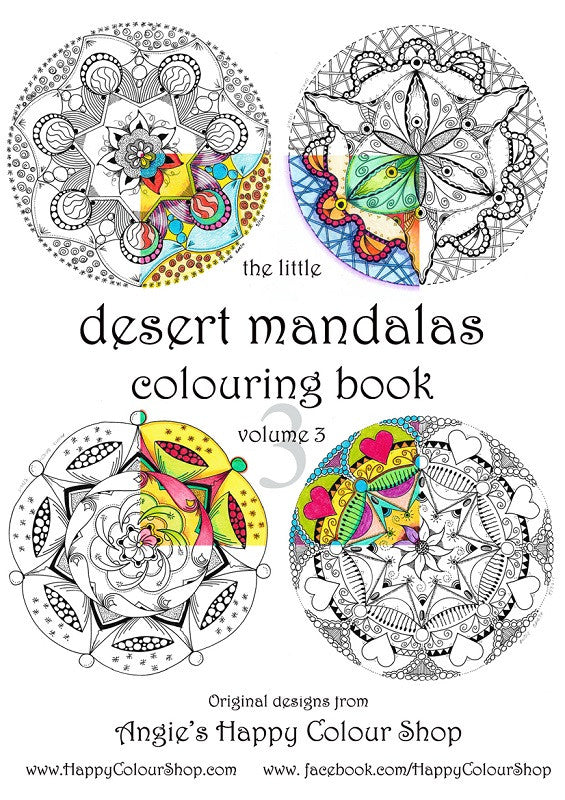 The little desert mandalas colouring book vol. 3, instant download ...