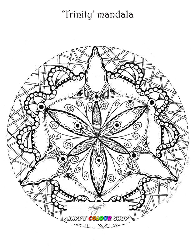 3 Instant Download The Little Desert Mandalas Colouring Book Vol
