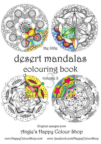 The little desert mandalas colouring book vol. 3, instant download