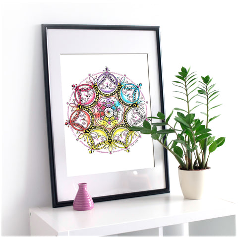 Original mandala artwork 'Rondo Allegro'