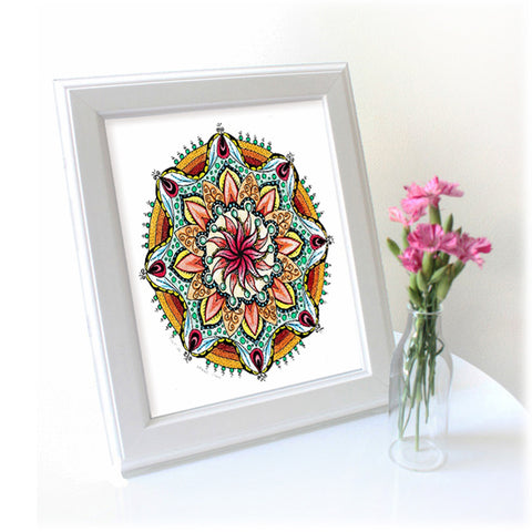 Original mandala artwork 'Summer in my mind'