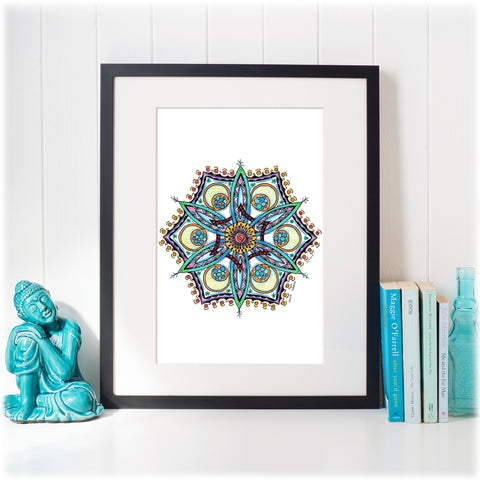 Original mandala artwork 'Ice Queen'