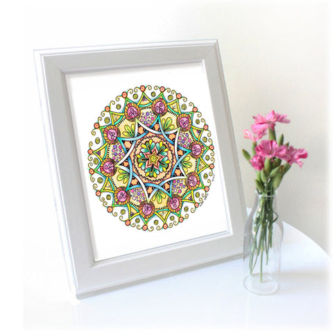 Original mandala artwork 'Joy and Abundance'