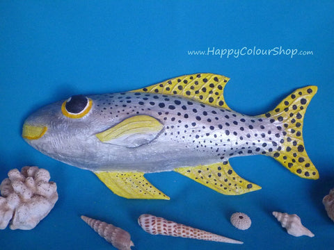 Smiling black spotted sweetlip fish