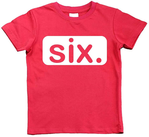 6th Birthday Shirt boy 6 Year Old boy Birthday Gift 6yr six Year Old Sixth Tshirt