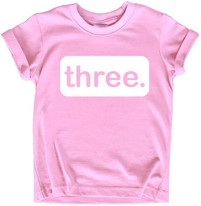 3rd Birthday Girl Outfit | 3 Year Old Girls Shirt | Three Shirts | 3t Toddler | Third