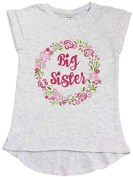 Big Sister Shirt for Toddler t Shirt sis Outfits Girls Floral Tshirt