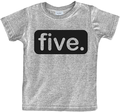 5th Birthday Shirt boy 5 Year Old boy Birthday boy Shirt 5 Five Gifts Fifth Shirts Light Gray