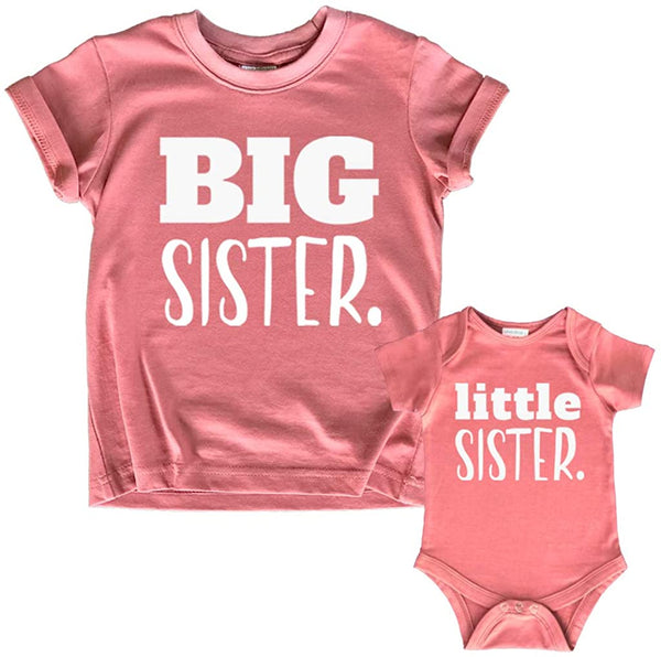 Big Sister Little Sister Matching Outfits Shirt | Gifts Girls Newborn Baby Set