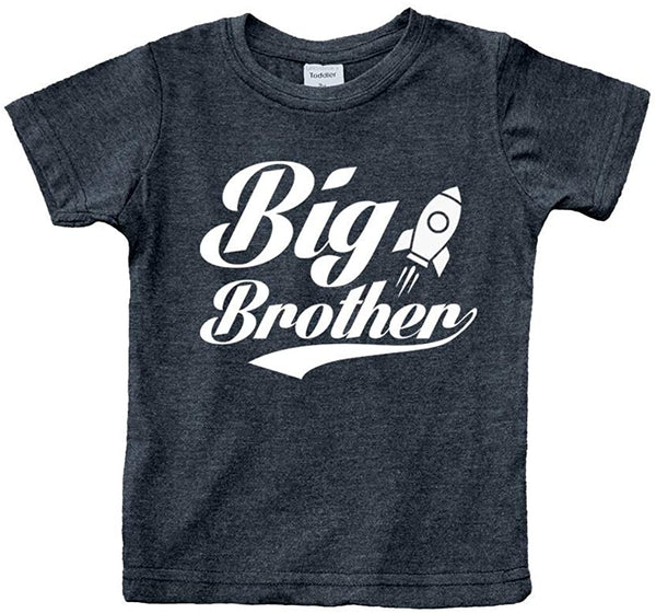 Big Brother Little Brother Shirts Matching Outfits Sibling Gifts Baby Set Charcoal Black