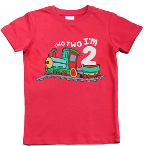 2nd Birthday Shirt boy | Chugga Chugga Two Two Train | im Two Year Old Second Birthday