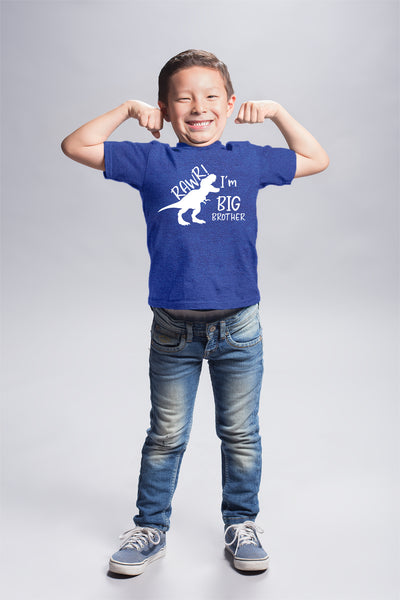 rawr im Big Brother Shirt Dinosaur Toddler boy Dino Announcement ouotfit Tshirt