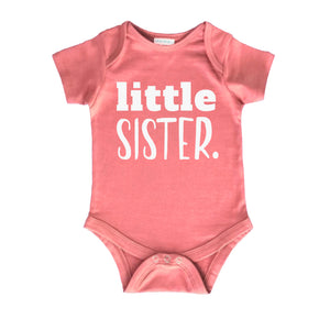 Little Sister Newborn Outfit | Baby Coming Home Bodysuit | Girl Rompers Gift Clothes