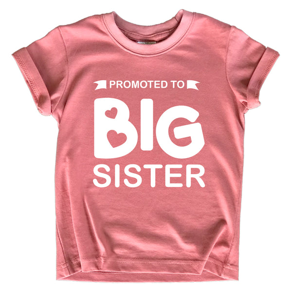 Promoted to Big Sister Shirt for Little Girls Toddler Baby Announcement Outfits