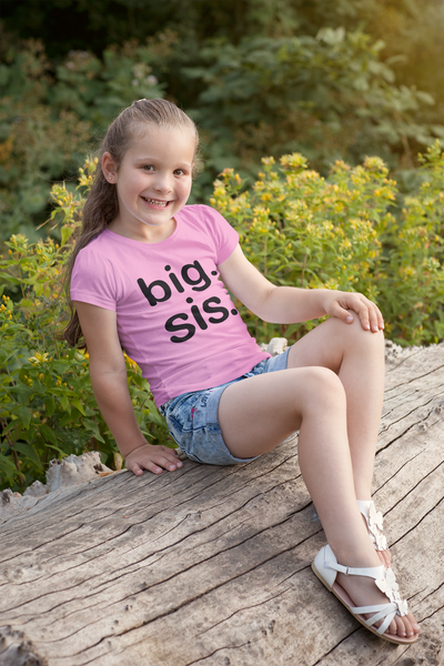 Big sis Shirt Big Sister Shirt Toddler Girls Outfit Promoted Announcement Tshirt