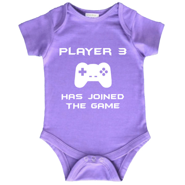 player 3 has entered the game joined newborn baby outfits cute funny bodysuit