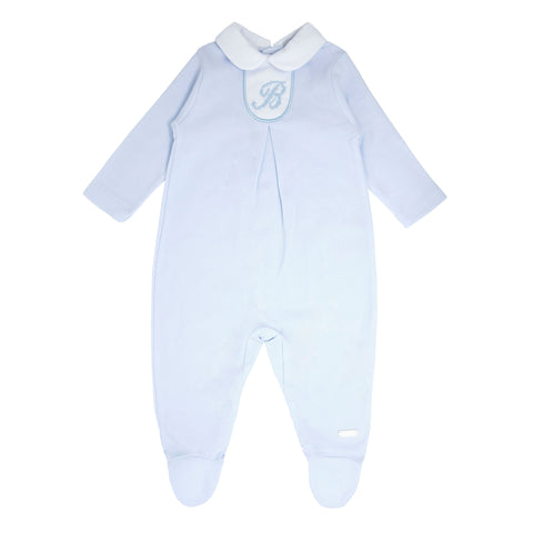 Boys Pale Blue Babygrow BB0035