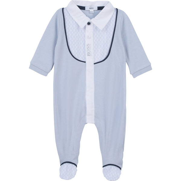 Pale Blue BOSS Babygro J97170