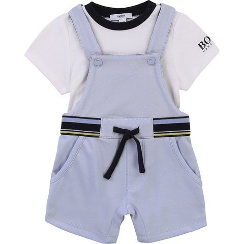 BOSS Dungaree and T-Shirt Set