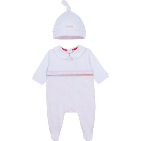 BOSS Babygro and Hat Set