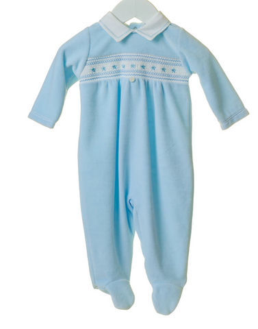 Boys Baby grow with smock detail