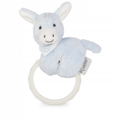 Blue Donkey Rattle and Teether