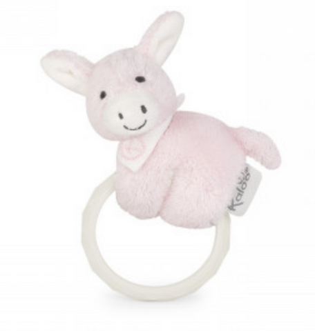 Pink Donkey Rattle and Teether