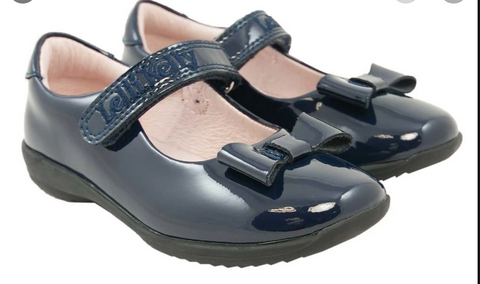 Lelli Kelly Navy Patent Perrie School Shoe
