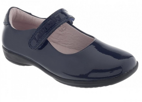 Lelli Kelly Navy Patent Classic School Shoe