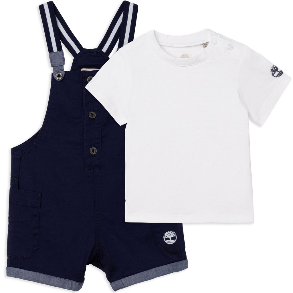 Navy Dungaree and T-Shirt Set  T98287