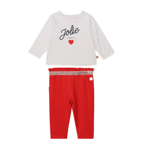 Red Trouser Set