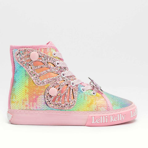 Lelli Kelly LK1331 Rainbow Sequin Hi Tops