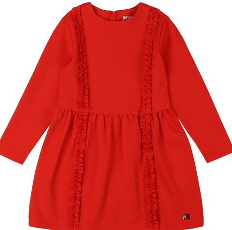 Red Ruffle Dress
