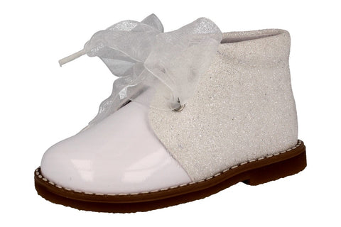 Andanines Mini White Glitter Boot