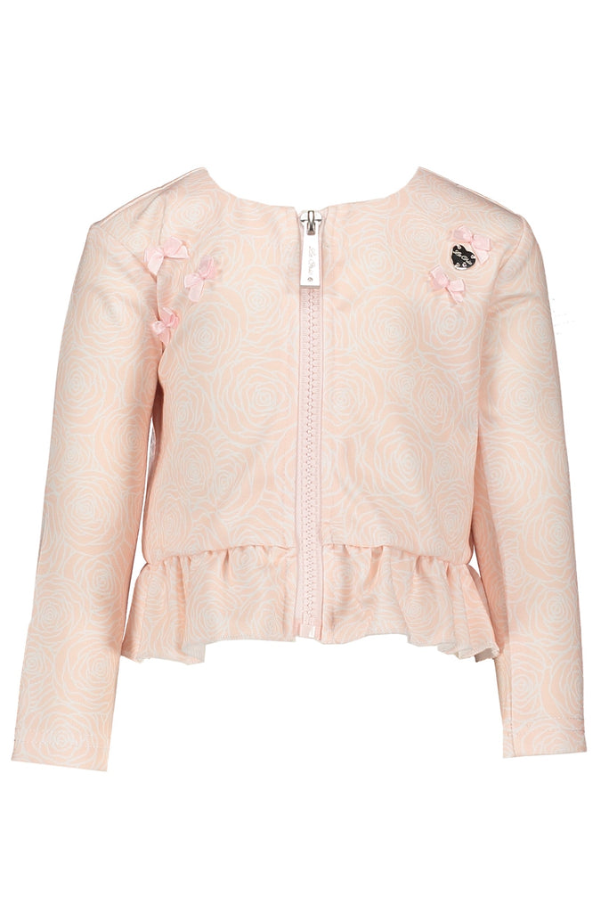 Le Chic Rose Print Cardigan